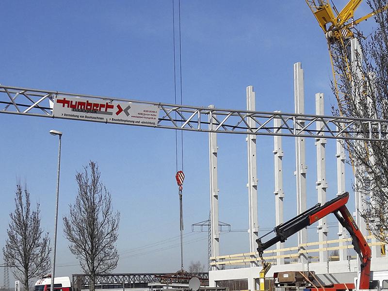 Humbert Baulogistik Baustelleneinrichtung Kabelbrücke